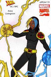 Anna Livingston Powers coloured Costume Concept X-Men title