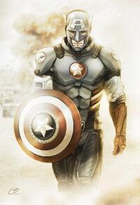 Captain-america-redesign-walking-pose-desert-flat-and-mod-41