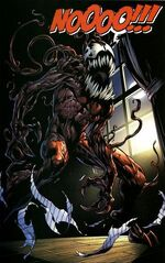 Gwendolyne Stacy (Clone) (Earth-616) and Carnage (Symbiote) (Earth-1610) from Ultimate Spider-Man Vol 1 128 0001