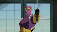 Baron Zemo with pistol