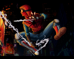 Peter Parker Marvel Knight in Action