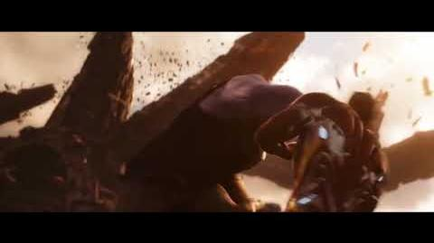 Thanos punching ironman over and over and over and over and over over and over
