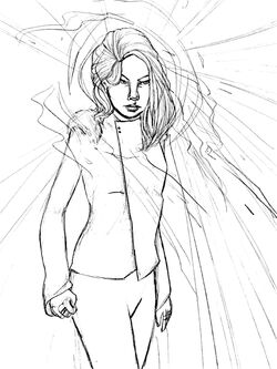 Emma Frost Mind Games-Sketch