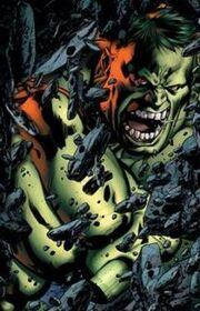 Hulk's first transformation