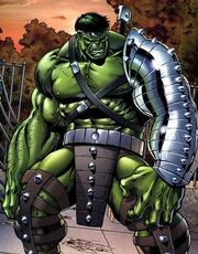 Hulk arriving on Earth