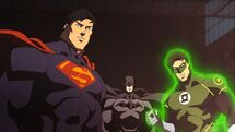 Eliot with Batman and Superman (Earth-3)