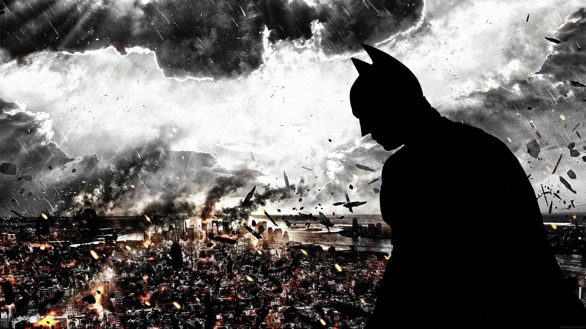 Batman Silhouette Gotham City The Dark Knight Rises Logo 40260 42