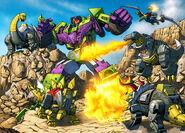 Dinobots vs. Devastato1r