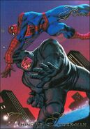 Aleksei Sytsevich (Earth-616) and Peter Parker (Earth-616) from Marvel Annual Flair Trading Cards 1994 Set 0001