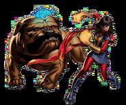 Kamala Khan and Lockjaw (Earth-12131) from Marvel Avengers Alliance
