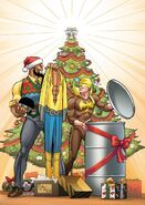 Power Man and Iron Fist Sweet Christmas Annual Vol 1 1 von Eeden Variant Textless