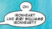 Riri Williams (Earth-TRN591) from Generations Iron Man & Ironheart Vol 1 1 001