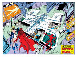 Vision (Earth-616), Barbara Morse (Earth-616), and Wanda Maximoff (Earth-616) from West Coast Avengers Vol 2 43 001