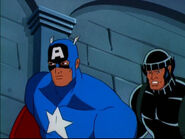 Wolverine (Logan) (Earth-92131) and Steven Rogers (Earth-92131) from X-Men The Animated Series Season 5 11 003