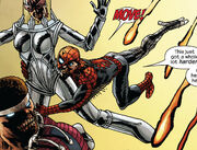 Clinton Barton (Earth-2149), Peter Parker (Earth-2149), and Luke Cage (Earth-2149) from Marvel Zombies Vol 2 4 0001