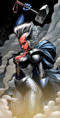 Ororo Munroe (Earth-616) and Stormcaster from X-Men To Serve and Protect Vol 1 3 0001