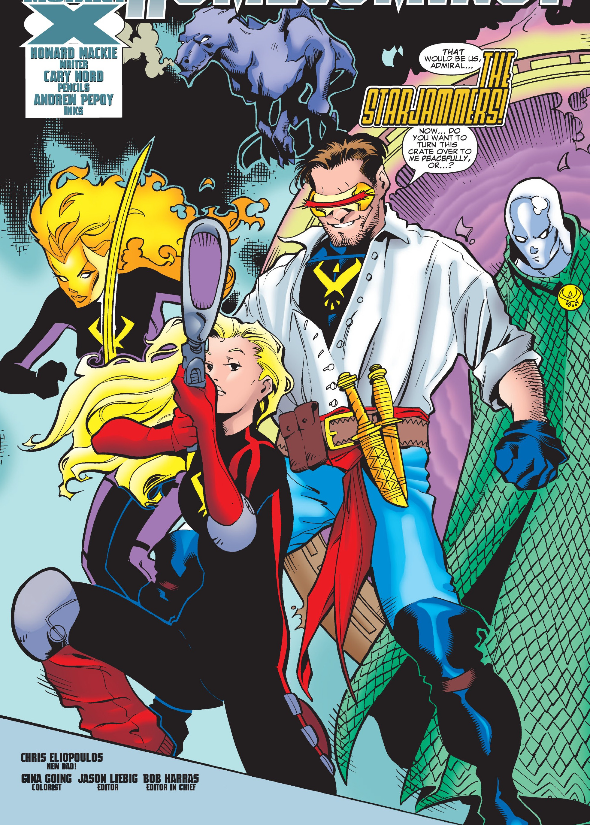 Starjammers (Earth-1298) from Mutant X Vol 1 14 0002. Starjammers (Earth- 1298) from Mutant X Vol 1 14 0002