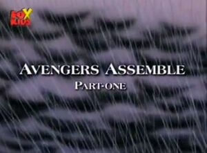 The Avengers United They Stand Season 1 1 Title Card