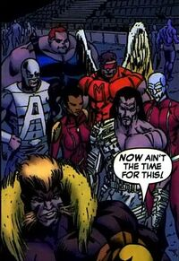 Brotherhood of Mutants (Earth-5700) from Weapon X Days of Future Now Vol 1 4 0001