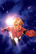 Captain Marvel Vol 9 1 Hughes Variant Textless