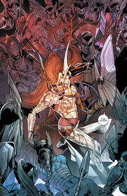 Dísir (Earth-616) vs. Aldrif Odinsdottir (Earth-616) from Angela Asgard's Assassin Vol 1 4 001