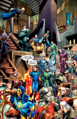 Interdimensional Council of Reeds (Multiverse) from Fantastic Four Vol 1 570 0001