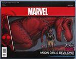 Moon Girl and Devil Dinosaur Vol 1 8 Action Figure Wraparound Variant