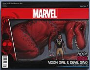 Moon Girl and Devil Dinosaur Vol 1 8 Action Figure Wraparound Variant
