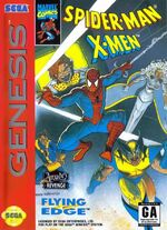 Spider-Man X-Men game cover