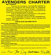 Avengers Charter from Avengers Annual Vol 1 11 001