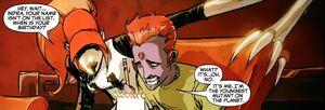 Paras Gavaskar (Earth-616) and Cessily Kincaid (Earth-616) from New X-Men Vol 2 42 001