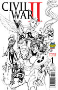 Civil War II Vol 1 1 Midtown Comics Exclusive Sketch Variant