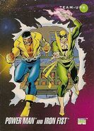 Luke Cage and Daniel Rand (Earth-616) from Marvel Universe Cards Series III 0001