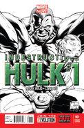 Indestructible Hulk Vol 1 1 Quesada Sketch Variant