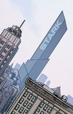 Stark Tower (Times Square) from Invincible Iron Man Vol 3 2 001