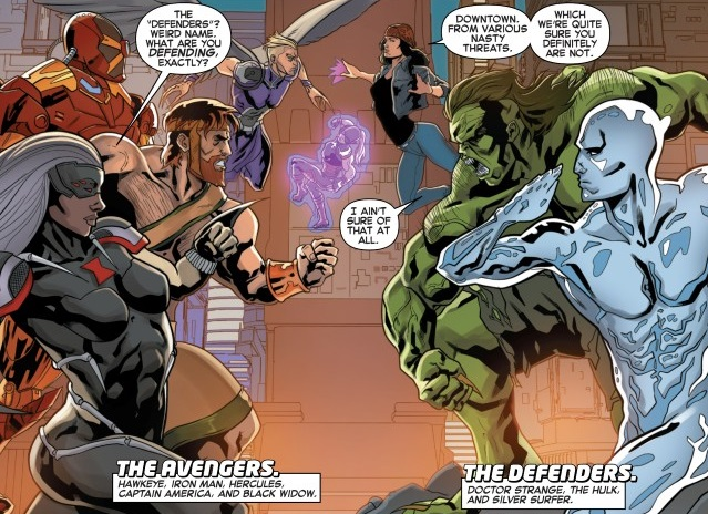File:Avengers (Earth-23291) and Defenders (Earth-23291) from