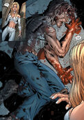 Emma Frost (Earth-616) and Joshua Guthrie (Earth-616) from New X-Men Vol 2 20 0001