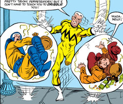 James Sanders (Earth-712), Stanley Stewart (Earth-712), and Rustler (Earth-712) from Squadron Supreme Vol 1 8 0001