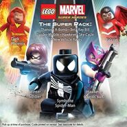 Jean Grey (Earth-13122), James Buchanan Barnes (Earth-13122), Peter Parker (Earth-13122), Clinton Barton (Earth-13122), and Falcon (Earth-13122) from LEGO Marvel Super Heroes 001