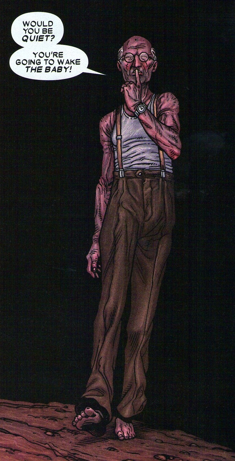 Bruce Banner (Earth-807128) from Wolverine Old Man Logan Giant-Size Vol 1 1 001