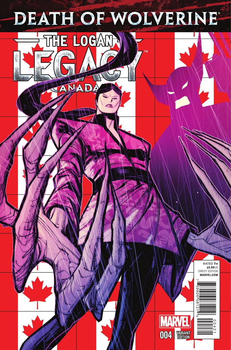 Death Of Wolverine The Logan Legacy Vol 1 4 Canada Variant