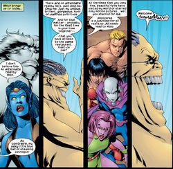 Exiles (Multiverse) and Mojo (Mojoverse) from Exiles Vol 1 18 0001