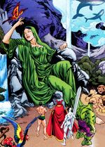 Gaea (Earth-616) and Defenders (Earth-616) from Defenders Vol 2 12 0001