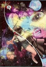 Karolina Dean (Earth-616), Frank Dean (Earth-616), and Leslie Dean (Earth-616) from Runaways Vol 2 23 001