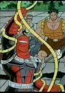Suvik Senyaka (Earth-92131), Philippa Sontag (Earth-92131), and Michael McCain (Earth-92131) from X-Men The Animated Series Season 4 15 001