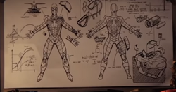Spider-Man's Anti-Ock Suit Blueprints from Marvel's Spider-Man (video game)
