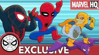 Spidey & Miles Save the City From Trash Marvel Super Hero Adventures - Sticky Rain SHORT