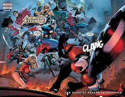 Steven Rogers (Earth-616), New Avengers (Earth-616), Young Avengers (Earth-616), Secret Warriors (Earth-616), and Dark Avengers (Earth-616) from Siege Vol 1 3 0001
