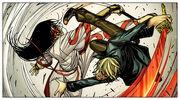 Alexander Aaron (Earth-616) vs. Tomi Shishido (Earth-616) from Secret Warriors Vol 1 21 002