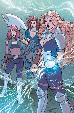 Goddesses of Thunder (Earth-14412) from Mighty Thor At the Gates of Valhalla Vol 1 1 001